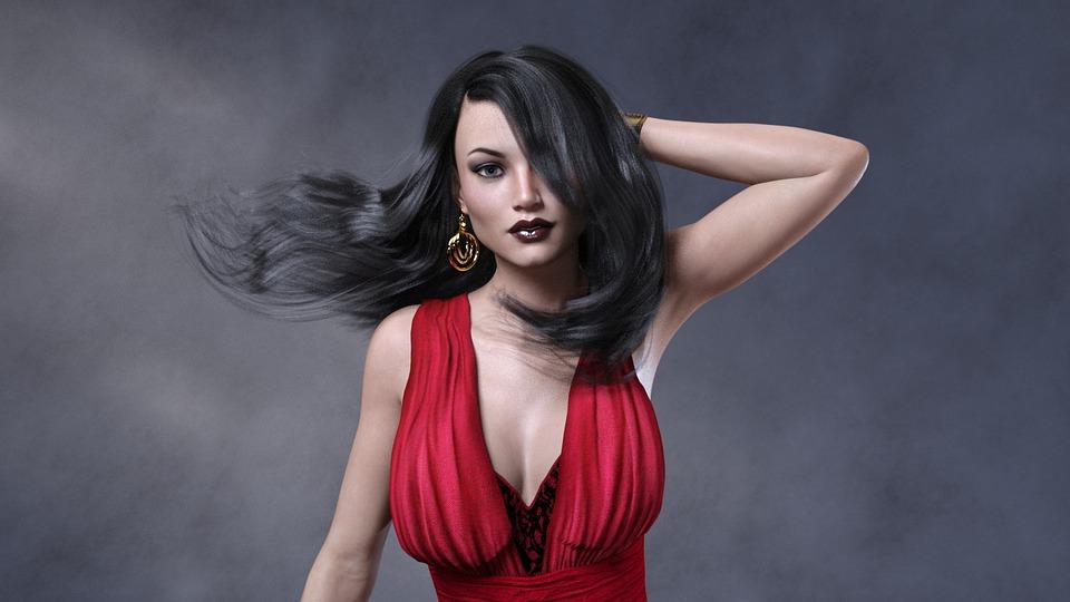 3D model, žena